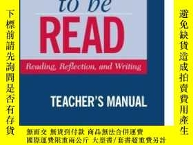 二手書博民逛書店Write罕見To Be Read Teacher s ManualY256260 Smalzer, Will