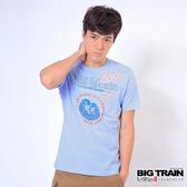 Big Train 浮世繪海濤圓領T-男-淺藍-Z8011650