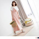 《DA5562》高含棉袋鼠口袋吊帶寬版裙 OrangeBear