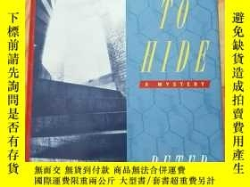 二手書博民逛書店SOMETHING罕見TO HIDE(大32開精裝)見圖Y138