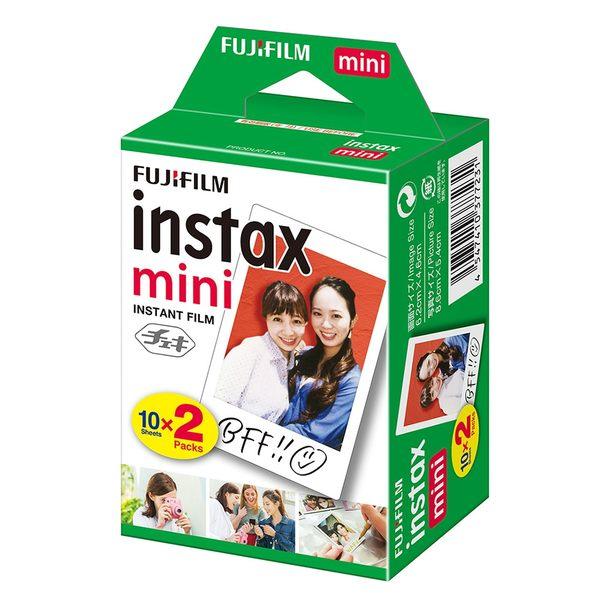 【有效期限 2020/12月 】富士 Fujifilm instax mini 拍立得底片《一盒 20張》白框底片 空白相紙