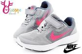 NIKE童鞋 REVOLUTION 3 (TDV) 透氣運動鞋 N7226#灰粉◆OSOME奧森鞋業