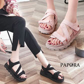 涼鞋.夏日休閒涼鞋【K0476】黑/粉