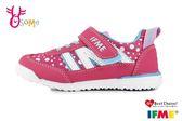 IFME Light超輕量日本機能鞋 中童 活力點點 運動鞋 O7682#桃紅◆OSOME奧森童鞋