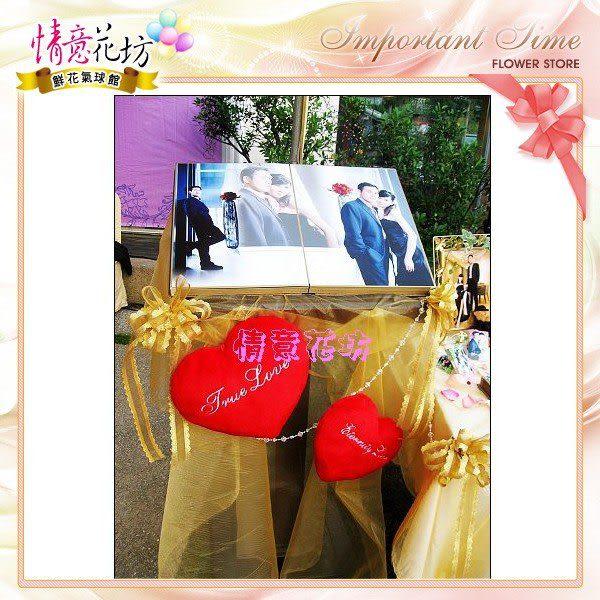 婚禮會場佈置戶外式婚禮優惠價只要4999元~北縣市皆可服務!情意花坊網路花店鮮花氣球佈置