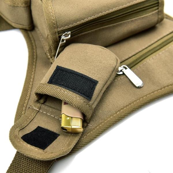 軍規腰包 騎行帆布腰腿包 戶外戰術多功能腿包 潮男包休閒運動腰包 漁具包  快速出貨