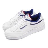 【海外限定】Reebok 休閒鞋 Club C 85 白 藍 紅 小白鞋 基本款 百搭款 運動鞋 女鞋【ACS】 FW7785