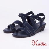 kadia.舒適牛皮涼鞋(9151-50藍色)