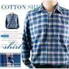 【大盤大】(S55636) 男 100%純棉襯衫 格紋休閒襯衫 口袋格子襯衫 法蘭絨 厚地 寬鬆長袖刷毛衣