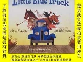 二手書博民逛書店英文原版罕見小小的藍色卡車 Little Blue Truck
