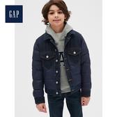 Gap男童溫暖柔軟長袖鋪棉牛仔外套524882-海軍藍