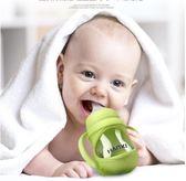 涵惜嬰兒玻璃奶瓶 防摔防脹氣吸管硅膠寬口徑奶嘴新生兒寶寶用品   新年下殺