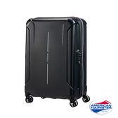 AT美國旅行者 25吋Technum防刮飛機輪可擴充TSA海關鎖行李箱(黑)