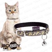 法國~BOBBY ~金色香檳貓圈貓咪項圈喵星人 安全防勒扣環