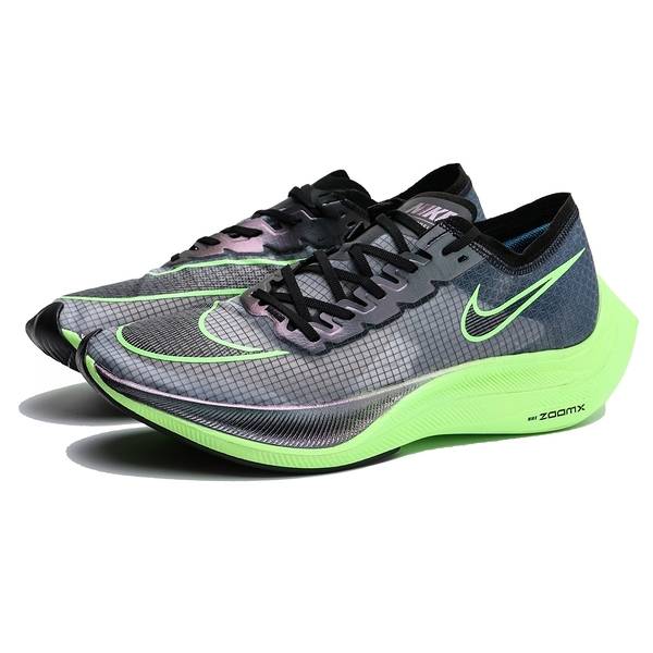 NIKE 慢跑鞋 ZOOM X VAPORFLY NEXT% 馬拉松 田徑 黑 螢光綠 輕量 版型偏小 男 (布魯克林) AO4568-400