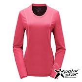 PolarStar 女 竹炭吸排長袖圓領衫『桃粉紅』P17210 機能衣│刷毛衣排汗│透氣│輕量