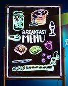 熒光板 LED電子熒光板60 80廣告牌黑板熒發光屏手寫立式寫字板留言板