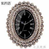 掛鐘客廳鐘錶復古孔雀大號掛錶客廳家用時鐘時尚創意壁鐘靜音 小艾時尚NMS