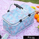 花籃 春游野餐籃子ins戶外便攜帶蓋買菜籃手提購物籃可摺疊保溫籃冰包 道禾