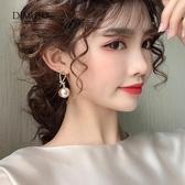 耳環 高級感耳環韓國氣質網紅珍珠耳飾女2020年新款潮復古港風耳釘 萬聖節狂歡