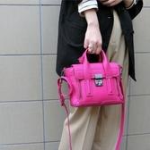 ■夏季折扣專櫃61折■ 3.1 Phillip Lim 全新真品 Mini Pashli 小牛皮兩用包 桃粉色 鎗色灰銀扣