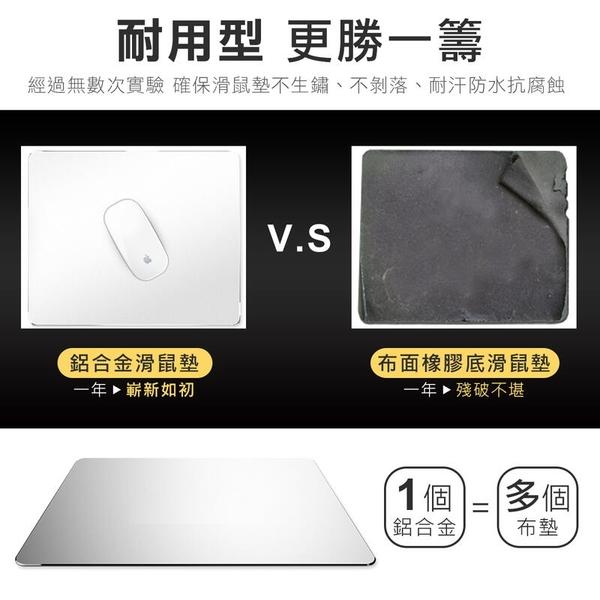 雙面可用 超耐磨 鋁合金滑鼠墊 電腦滑鼠墊 筆電鼠墊