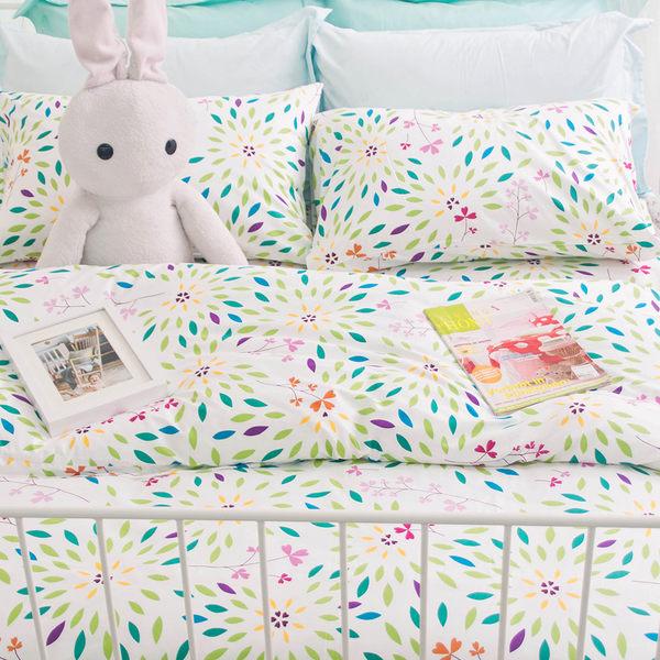 OLIVIA【FLORA】5x6.2尺 標準雙人床包枕套組(不含被套)/嚴選系列/100%天然精梳純棉 台灣製