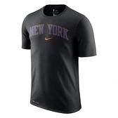 Nike 男 NBA 紐約 尼克隊 黑 籃球 短袖 上衣 AT1347-010