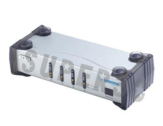新竹【超人3C】ATEN 4埠 DVI視訊切換器 (四進一出) VS461 支援遠端控制功能 提供LED顯示功能