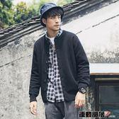 針織外套2018春秋裝新款男士開衫外套青年韓版修身圓領針織衫 運動部落