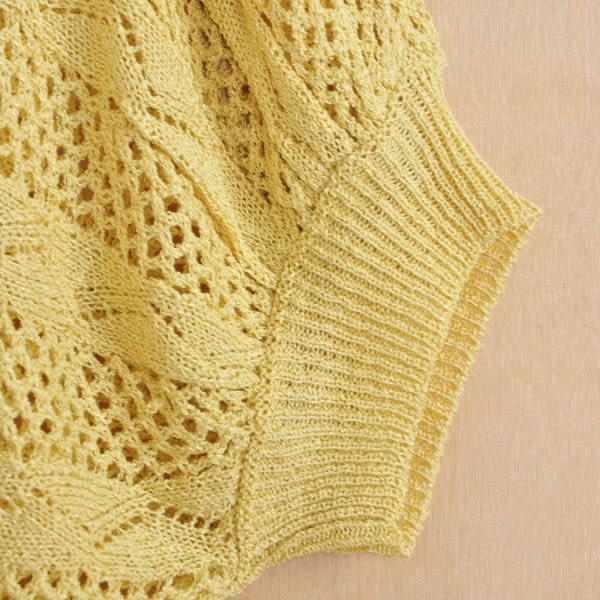 【CUMAR】菱形格縷空針織毛衣