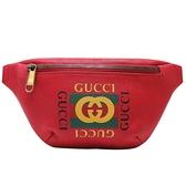 GUCCI 古馳 紅色牛皮斜背包 胸背包 Print Belt Bag 527792 【二手名牌BRAND OFF】