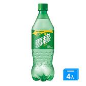雪碧汽水寶特瓶600mlx4入/組【愛買】