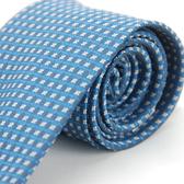 【Alpaca】淺白藍圖案領帶