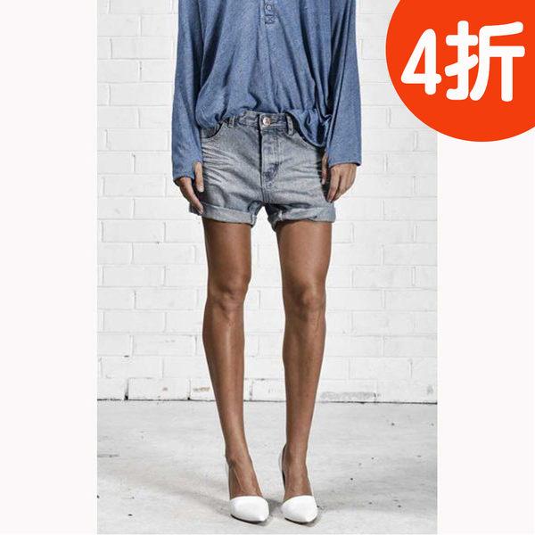 OneTeaspoon  牛仔短褲 破褲 ROMANCE CHARGERS- 女(灰藍)