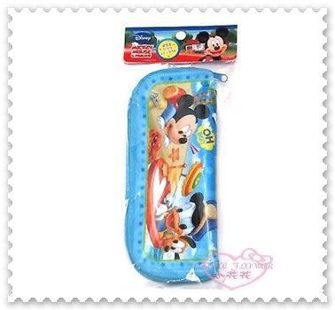 ♥小花花日本精品♥《Disney》米奇 餐具袋 餐具包 萬用袋 韓國製 藍11278207