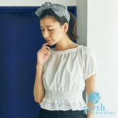 ❖ Hot item ❖ 方領純棉短版縮腰繡花上衣 - earth music&ecology