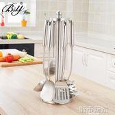 BY304不銹鋼鍋鏟掛架 旋轉廚具架廚房置物架家用廚架工具堅固 城市玩家
