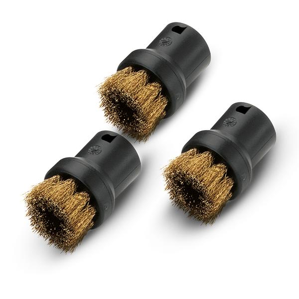蒸氣機銅毛刷組 Karcher Round brush kit with brass bristles 德國凱馳台灣公司貨