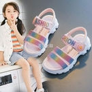涼鞋 女童涼鞋夏季新款中大童時尚沙灘鞋小女孩軟底兒童公主涼鞋