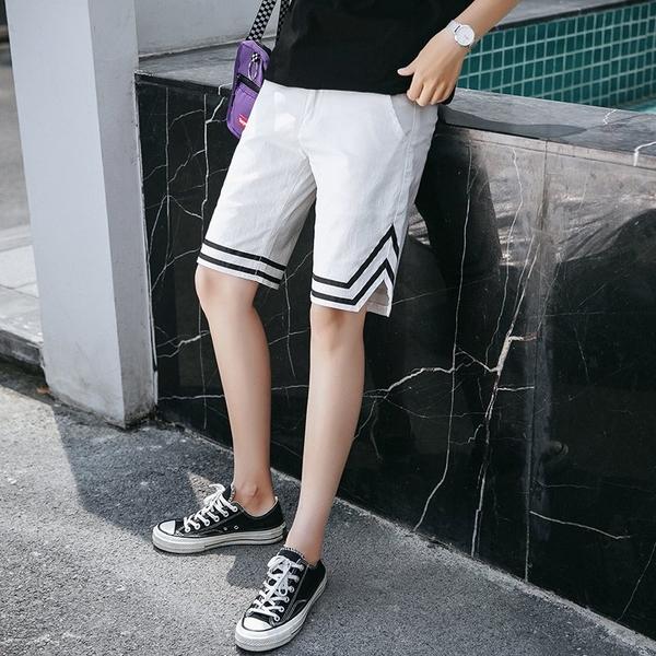 FINDSENSE H1 2018 夏季 新款 男 日本 個性拼接色 大碼短褲