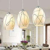 現代簡約餐廳燈個性創藝臥室吊燈KM2754『愛尚生活館』