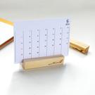 【BlueCat】復刻NATURE小樹葉方塊長條木質便簽夾名片夾 照片夾 留言夾 (大)
