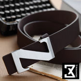 74盎司[Z-114] 時尚簡約風格素面皮帶(黑.咖啡.棕.白色)(皮帶)