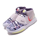 Nike 籃球鞋 Kyrie 6 AI EP Asia 紫 藍 男鞋 特殊圖騰鞋面 雙勾勾 運動鞋【PUMP306】 CD5033-500