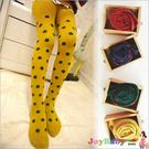 童襪子連身褲襪 -保暖波點純棉襪-Joy...