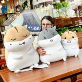 可愛倉鼠公仔布娃娃玩偶韓國毛絨玩具睡覺暖手抱枕女生禮物搞怪萌【快速出貨八折優惠】