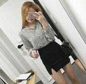 窄裙 秋冬新款韓版包臀裙高腰半身裙開叉彈力一步裙黑色職業短裙女