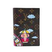 【台中米蘭站】全新品 Louis Vuitton Monogram 聖誕節限量版護照封套(M69746-咖)