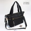 Catsbag 耐磨實用防潑水大容量二用大方包 斜背包 側肩包 公事包 6054